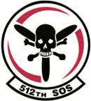 STICKER USAF 512th Special Operations Squadron Emblem