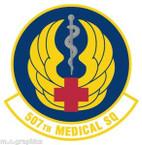 STICKER USAF 507th Medical Squadron Emblem