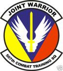 STICKER USAF 507TH COMBAT TRAINING SQUADRON