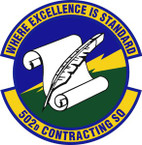 STICKER USAF 502nd Contracting Squadron Emblem