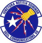 STICKER USAF 502nd Communications Squadron Emblem