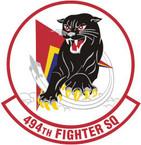 STICKER USAF 494TH FIGHTER SQUADRON