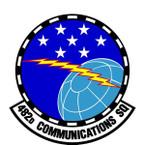 STICKER USAF 482nd Communications Squadron Emblem