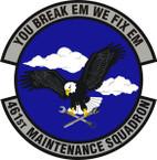 STICKER USAF 461st Maintenance Squadron Emblem