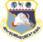 STICKER USAF 461ST BOMBARDMENT WING