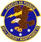 STICKER USAF 461st Aircraft Maintenance Squadron Emblem
