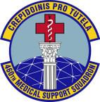 STICKER USAF 460th Medical Support Squadron Emblem