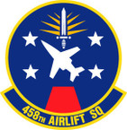 STICKER USAF 458TH AIRLIFT SQUADRON