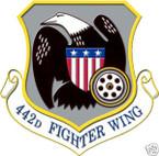 STICKER USAF 442ND FIGHTER WING