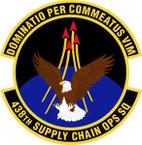 STICKER USAF 438th Supply Chain Operations Squadron Emblem