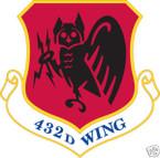 STICKER USAF 432ND FIGHTER WING