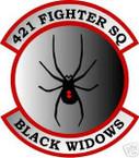 STICKER USAF 421ST FIGHTER SQUADRON BLACK WIDOW