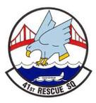 STICKER USAF 41st Rescue Squadron Emblem