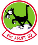 STICKER USAF 41ST AIRLIFT SQUADRON