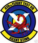 STICKER USAF 419TH FLIGHT TEST SQUADRON