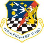 STICKER USAF 419TH FIGHTER WING