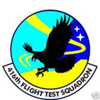 STICKER USAF 416th FLIGHT TEST SQUADRON