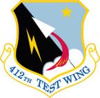 STICKER USAF 412th Test Wing