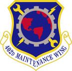 STICKER USAF 402ND MAINTENANCE WING