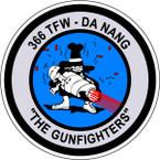 STICKER USAF 366TH TFW DA NANG