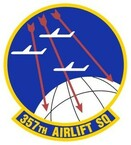 STICKER USAF 357TH AIRLIFT SQUADRON