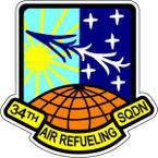 STICKER USAF 34TH AIR REFUELING SQUADRON