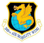 STICKER USAF 349 Air Mobility Wing Emblem