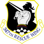 STICKER USAF 347TH RESCUE WING