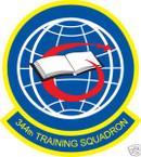 STICKER USAF 344TH TRAINING SQUADRON