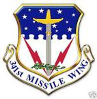 STICKER USAF 341ST MISSLE WING