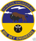 STICKER USAF 341ST CIVIL ENGINEERS SQUADRON