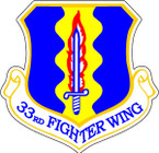 STICKER USAF 33RD FIGHTER WING