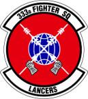 STICKER USAF 333rd FIGHTER SQUADRON