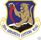 STICKER USAF 328TH ARMAMENT SYSTEMS WING