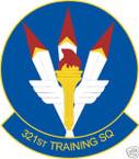 STICKER USAF 321ST TRAINING SQUADRON