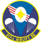 STICKER USAF 317TH AIRLIFT SQUADRON