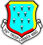 STICKER USAF 316TH TROOP CARRIER WING