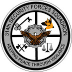 STICKER USAF 314TH SECURITY FORCES SQUADRON