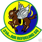 STICKER USAF 314TH AIR REFUELING SQUADRON