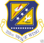 STICKER USAF 310TH SPACE WING