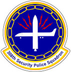 STICKER USAF 308TH SECURITY POLICE SQUADRON