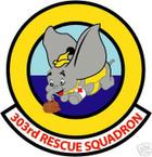 STICKER USAF 303RD RESCUE SQUADRON