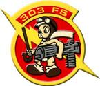STICKER USAF 303rd Fighter Squadron B