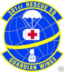 STICKER USAF 301ST RESCUE SQUADRON