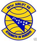 STICKER USAF 301ST AIRLIFT SQUADRON