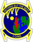 STICKER USAF 2ND CAMS