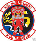 STICKER USAF 203RD AIR REFUELING SQUADRON