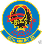 STICKER USAF 201ST AIRLIFT SQUADRON