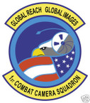 STICKER USAF 1ST COMBAT CAMERA SQUADRON