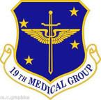 STICKER USAF 19th Medical Group Emblem
